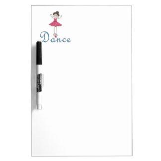 Dance Cute Ballerina Dry Erase Board