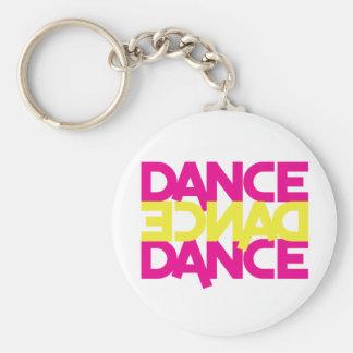 dance dance dance basic round button keychain