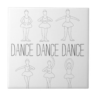 Dance Dance Dance Ceramic Tiles
