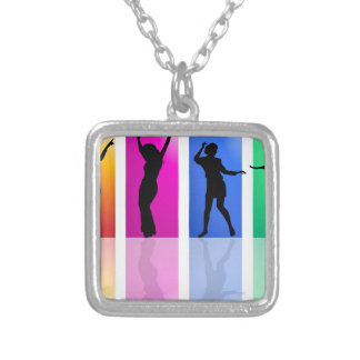 Dance Dance Dance Silver Plated Necklace