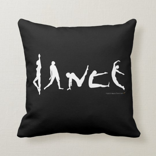 Dance Dancers Poses Silhouettes Fun Custom Pillow