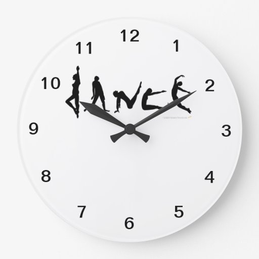 Dance Dancers Silhouettes Wall Clock
