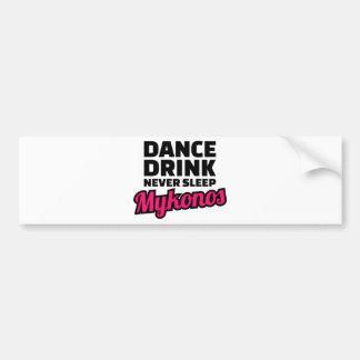 Dance drink never sleep bumper sticker