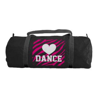 Dance duffle bags for women and girl | Zebra print