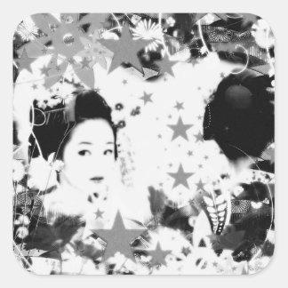 Dance eightfold dance 10 of flower square sticker