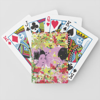 Dance eightfold dance 11 of flower bicycle playing cards