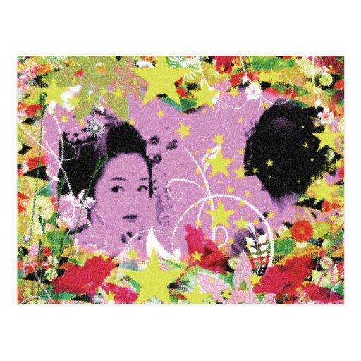 Dance eightfold dance 11 of flower post cards