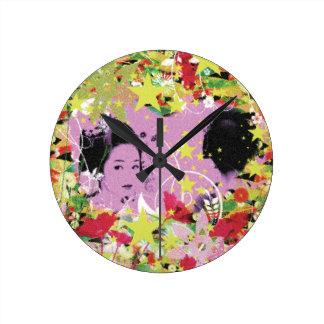 Dance eightfold dance 11 of flower wall clock