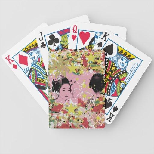 Dance eightfold dance 12 of flower bicycle card deck