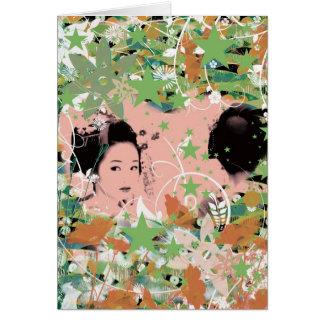 Dance eightfold dance 2 of flower greeting card