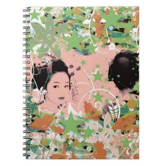 Dance eightfold dance 2 of flower spiral notebooks