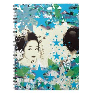 Dance eightfold dance 3 of flower spiral notebook