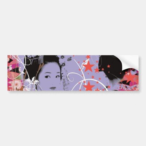 Dance eightfold dance 4 of flower bumper stickers