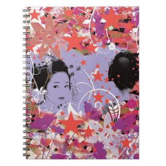 Dance eightfold dance 4 of flower spiral notebooks