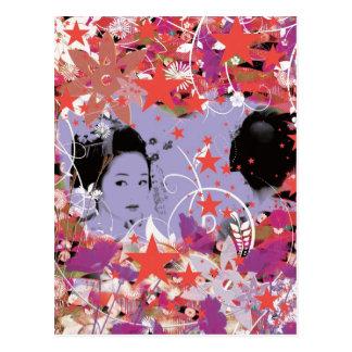 Dance eightfold dance 4 of flower postcard