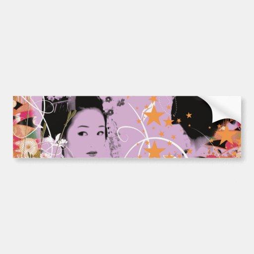 Dance eightfold dance 6 of flower bumper stickers