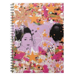 Dance eightfold dance 6 of flower notebooks
