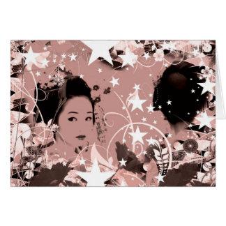 Dance eightfold dance 7 of flower greeting card