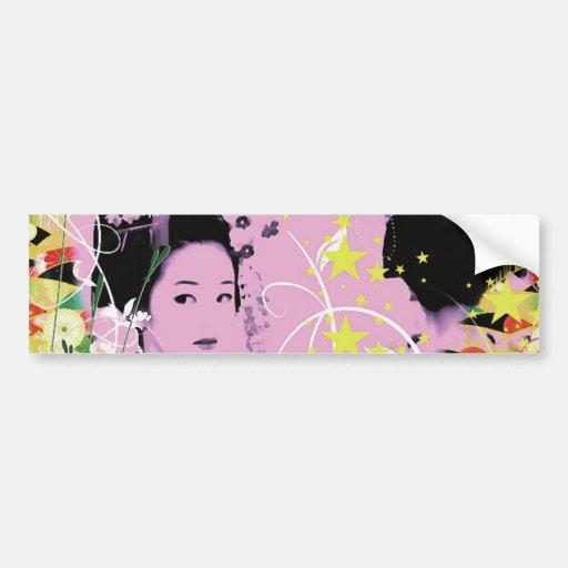 Dance eightfold dance 8 of flower bumper sticker