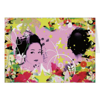 Dance eightfold dance 8 of flower greeting card