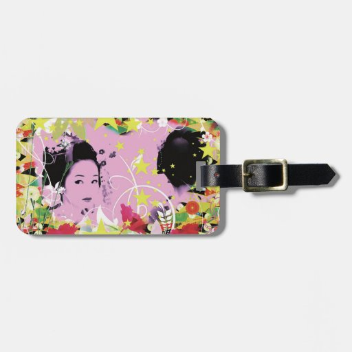 Dance eightfold dance 8 of flower luggage tag