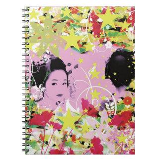 Dance eightfold dance 8 of flower spiral notebooks