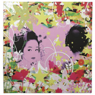 Dance eightfold dance 8 of flower printed napkins