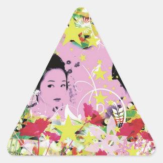 Dance eightfold dance 8 of flower triangle sticker