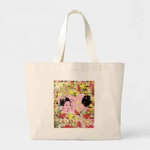 Dance eightfold dance of flower tote bags