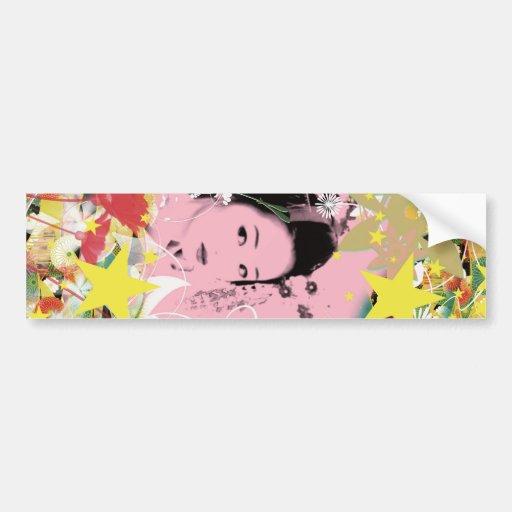 Dance eightfold dance of flower bumper sticker