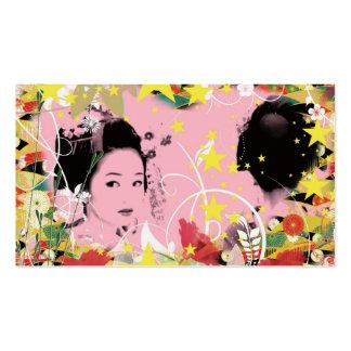 Dance eightfold dance of flower business card