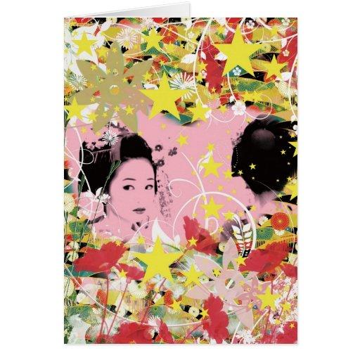 Dance eightfold dance of flower greeting card