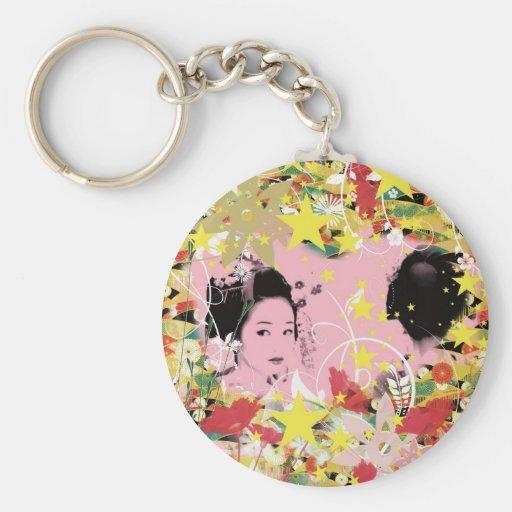 Dance eightfold dance of flower keychains