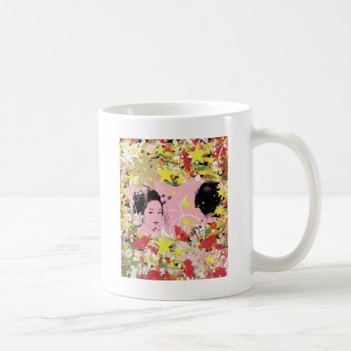 Dance eightfold dance of flower coffee mugs