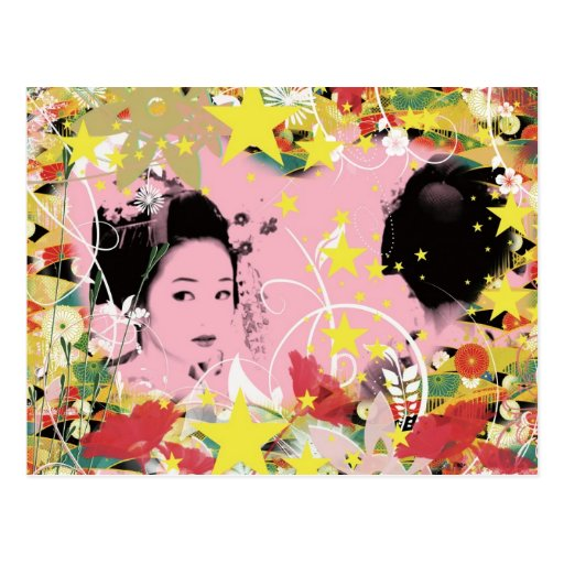 Dance eightfold dance of flower postcard