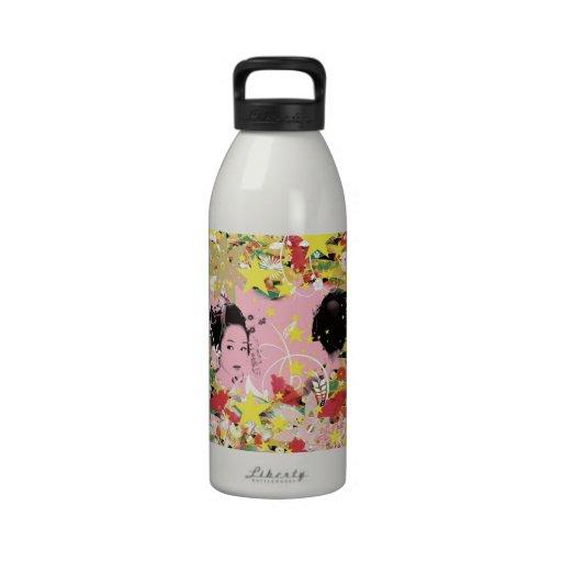 Dance eightfold dance of flower drinking bottle