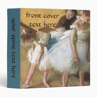 Dance Examination by Edgar Degas, Vintage Ballet Vinyl Binder