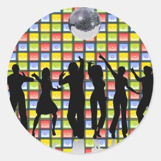 Dance Fever Classic Round Sticker
