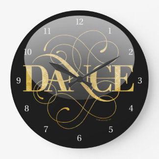 Dance Flourish Large Clock