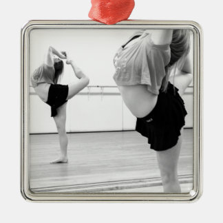dance girl metal ornament