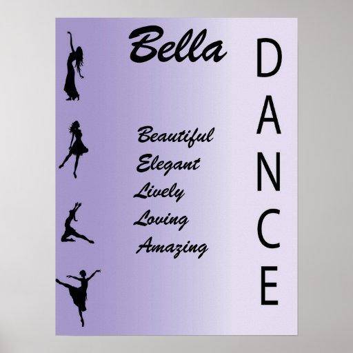 Dance Girls Name Art Wall Print Poster