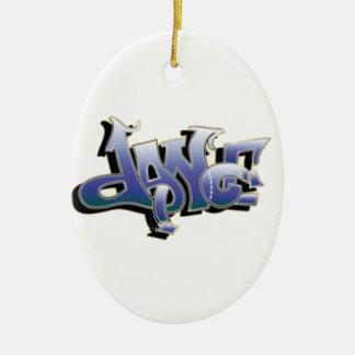 Dance Graffiti Ceramic Ornament