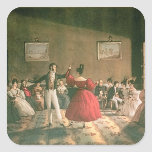 Dance in a Salon in Buenos Aires, c.1831 (w/c on p Stickers