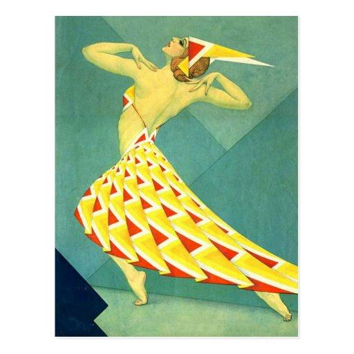 Dance in Deco Post Card