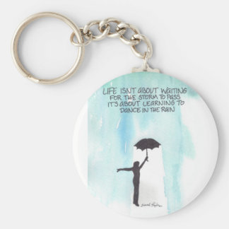 Dance In The Rain Basic Round Button Keychain