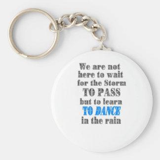 dance in the rain keychain