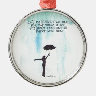 Dance In The Rain Metal Ornament