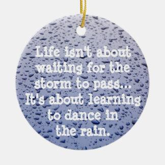Dance in the Rain Ornament