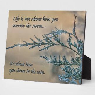 Dance in the Rain Plaque