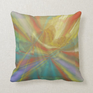 Dance in the Sunlight Abstract Throw Pillow
